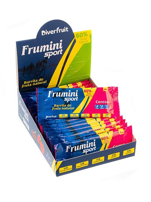Frumini Sport Cereza, barrita de fruta natural para deportistas