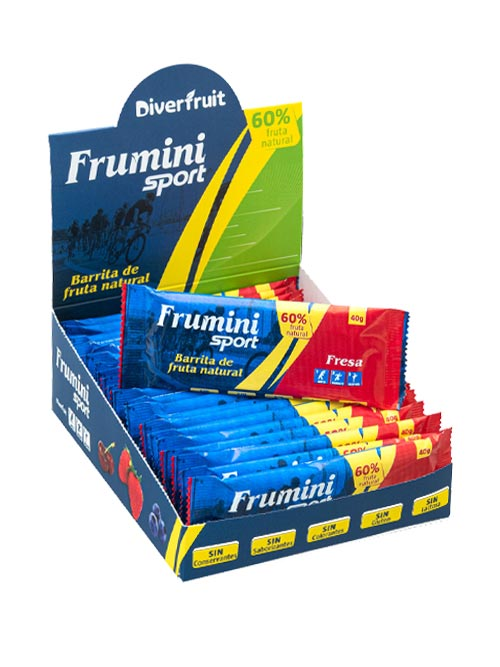 Frumini Sport Fresa, barrita de fruta natural para deportistas